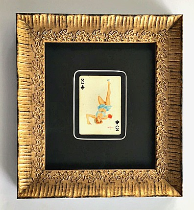 Vargas Girl Playing Card - Matting - Rose City Framemakers