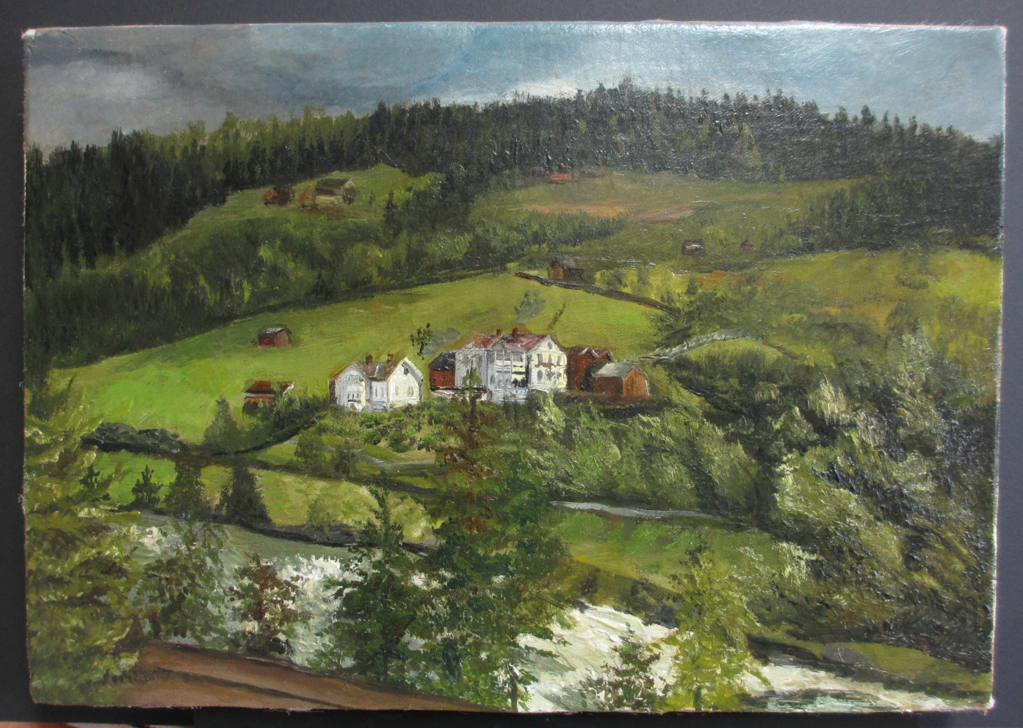 Village Scene - After Art Restoration Services