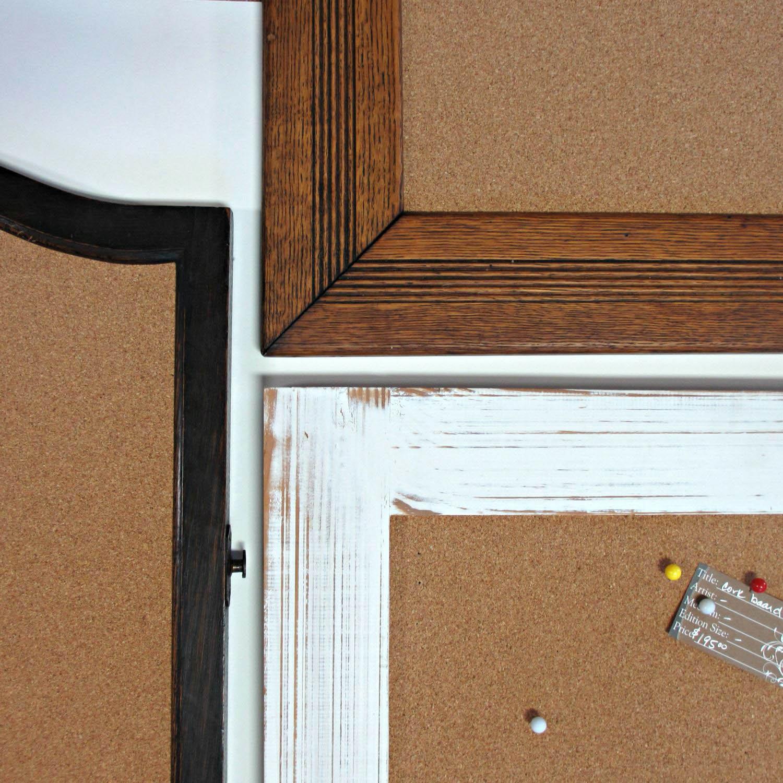 Cork board picture frames
