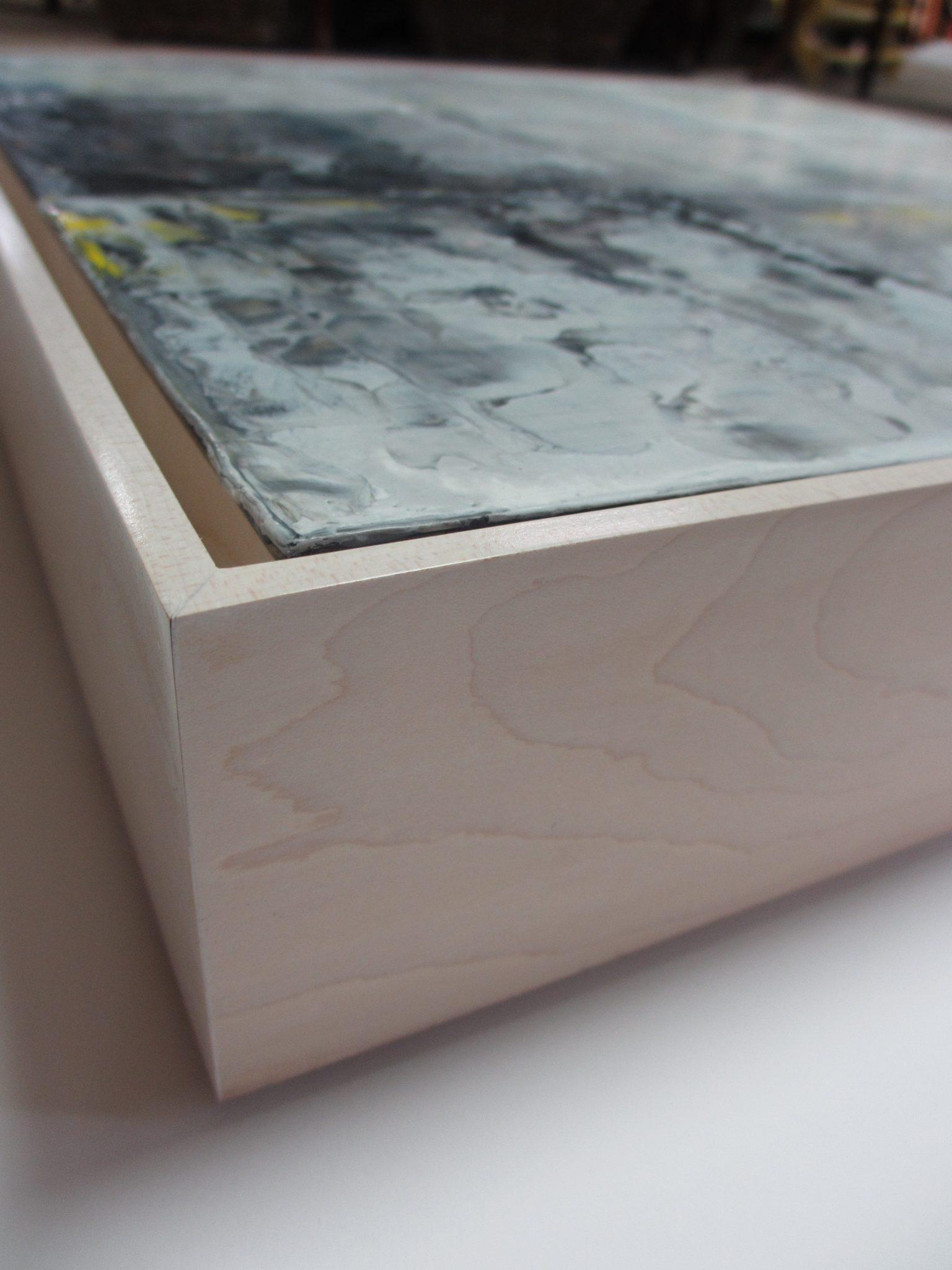 Floating Frame for Encaustic Paintings - Rose City Framemakers - Sparta NJ - Custom Framing