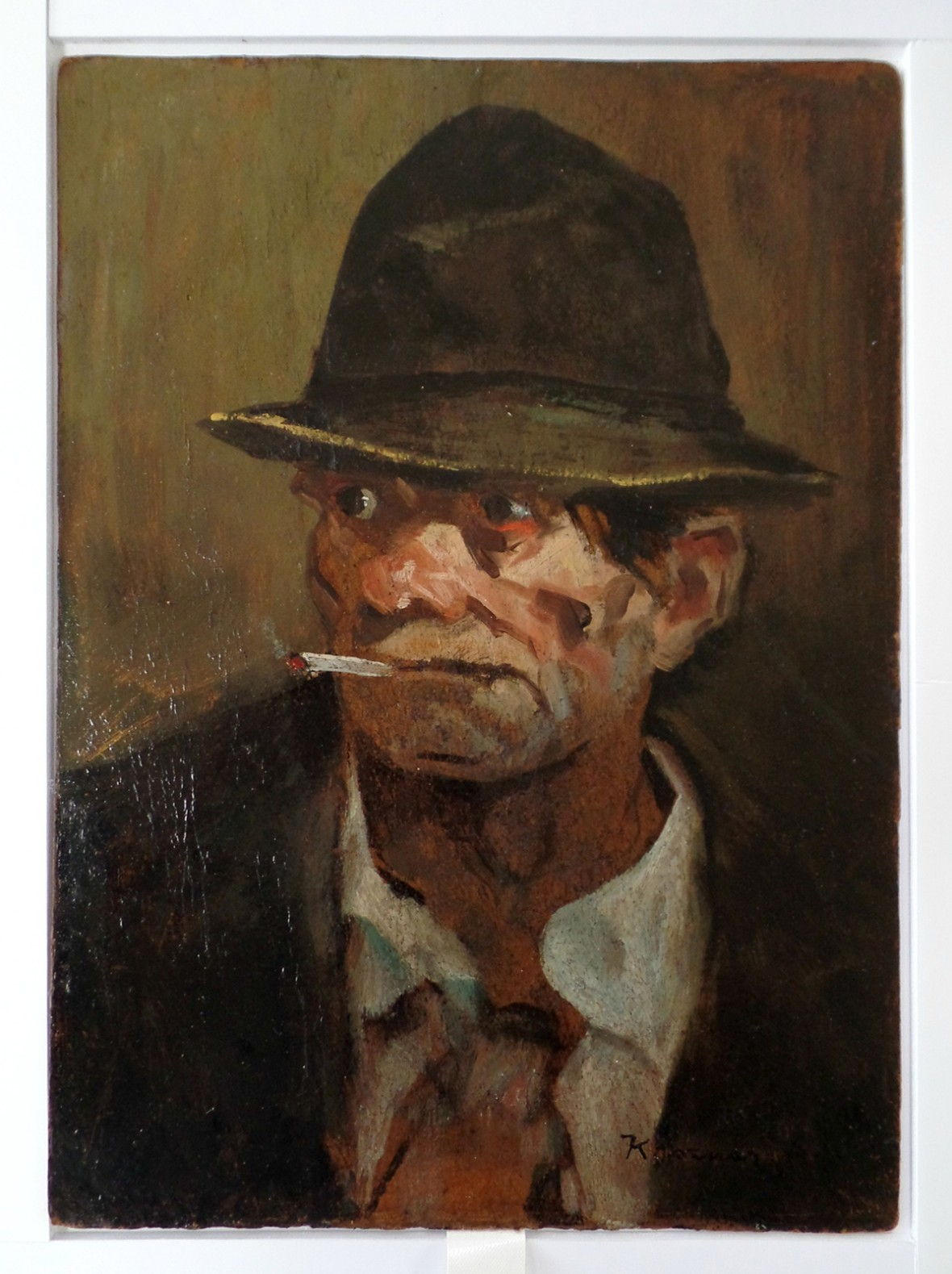 Smoking Man - After Art Restoration Services