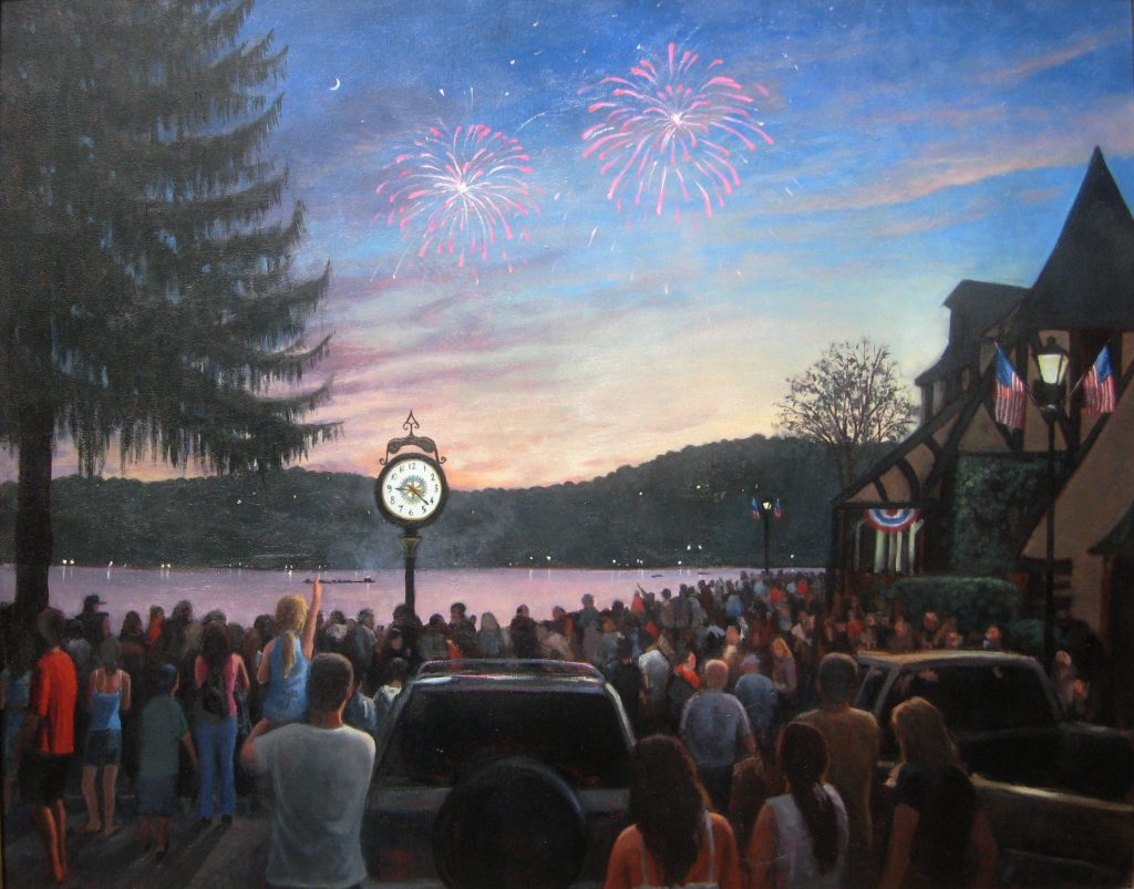 4th of July in Lake Mohawk - Artists on Display - Custom Framing - Rose City Framemakers - Sparta New Jersey - New York