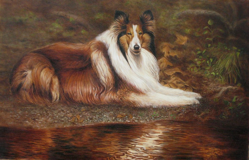 Full Dog Portrait Acrylic - Artists on Display - Custom Framing - Rose City Framemakers - Sparta New Jersey - New York