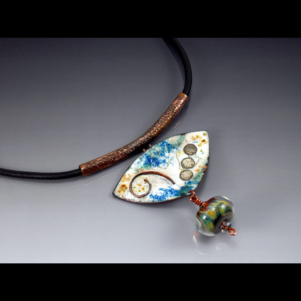 Jewelry Lampwork Bead Necklace - Dawn Lombard - Custom Framing - Rose City Framemakers - Sparta New Jersey - New York
