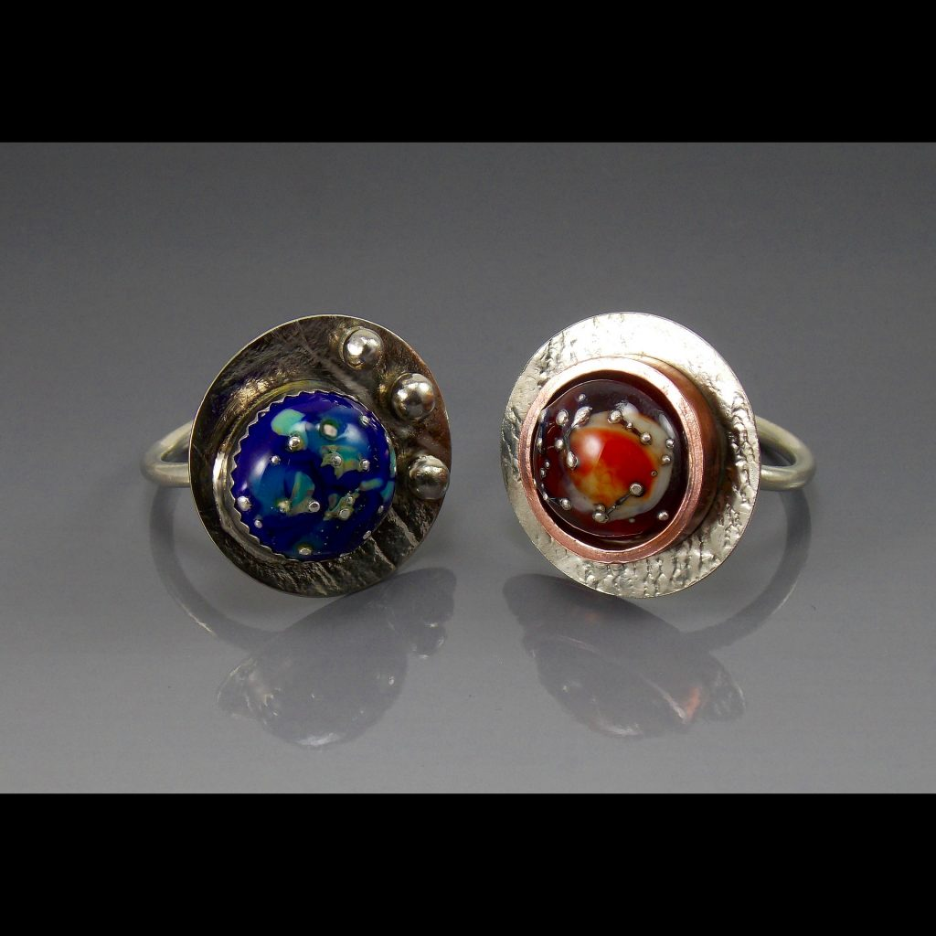 Jewelry Lampwork Bead Ring - Dawn Lombard - Custom Framing - Rose City Framemakers - Sparta New Jersey - New York