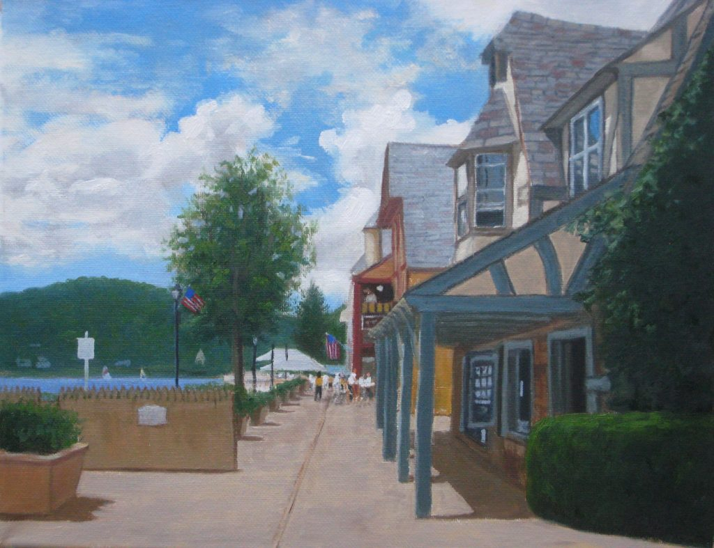 Lake Mohawk Boardwalk Summertime - Artists on Display - Custom Framing - Rose City Framemakers - Sparta New Jersey - New York