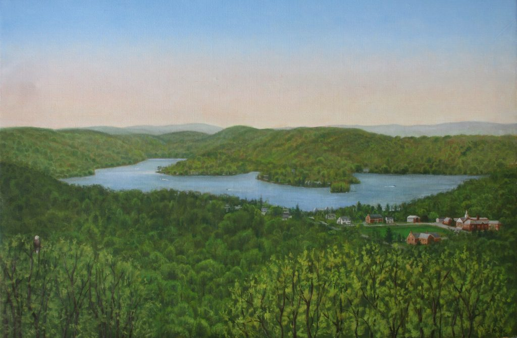 Lake Mohawk Glen View - Tim Maher - Custom Framing - Rose City Framemakers - Sparta New Jersey - New York