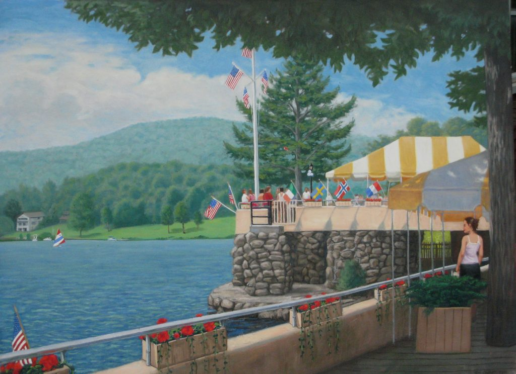 Lake Mohawk boardwalk - Artists on Display - Custom Framing - Rose City Framemakers - Sparta New Jersey - New York