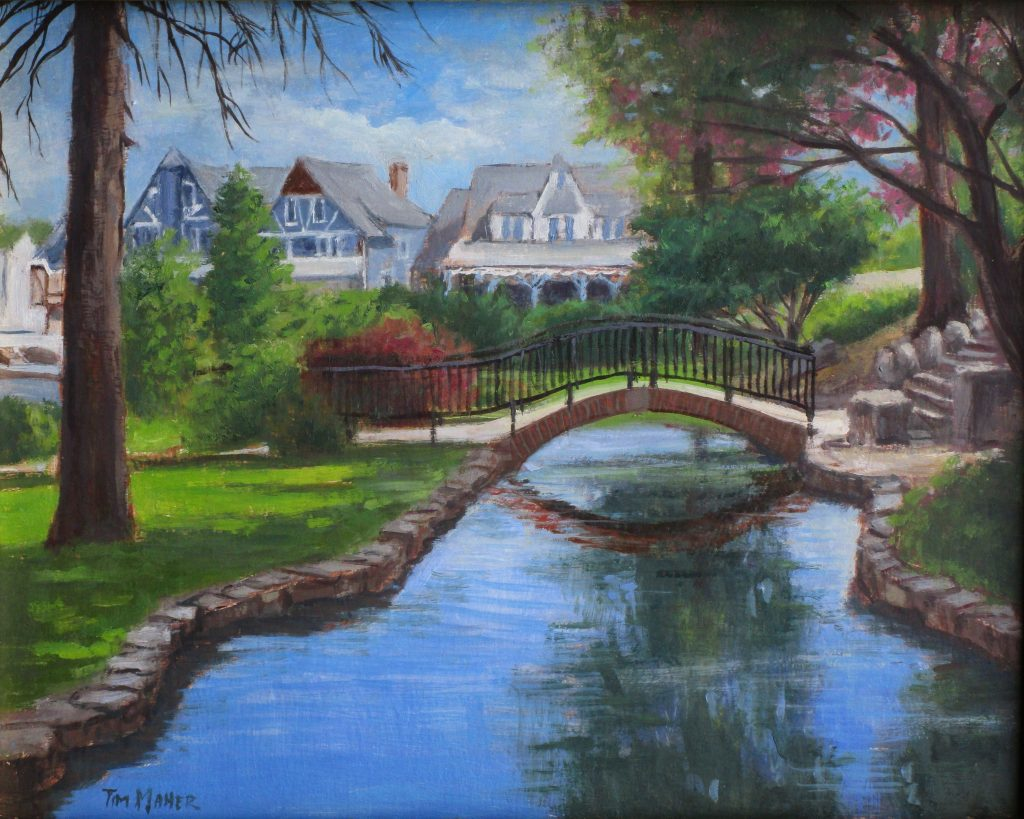 Sunken garden - Artists on Display - Custom Framing - Rose City Framemakers - Sparta New Jersey - New York