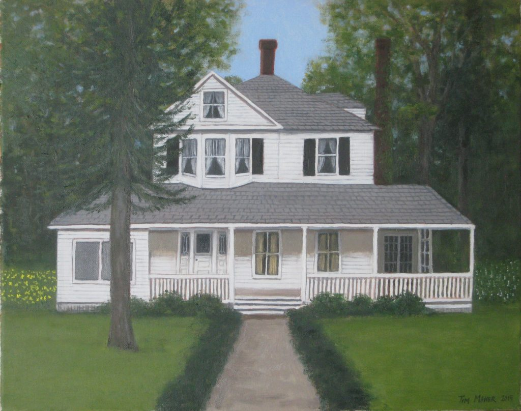 Watercolor House Rendering 1 - Artists on Display - Custom Framing - Rose City Framemakers - Sparta New Jersey - New York
